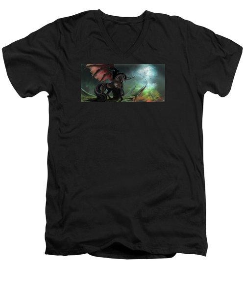 Guardians Men's V-Neck T-Shirt by Kate Black