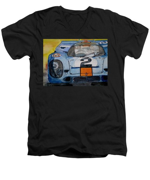 Gulf Porsche Men's V-Neck T-Shirt