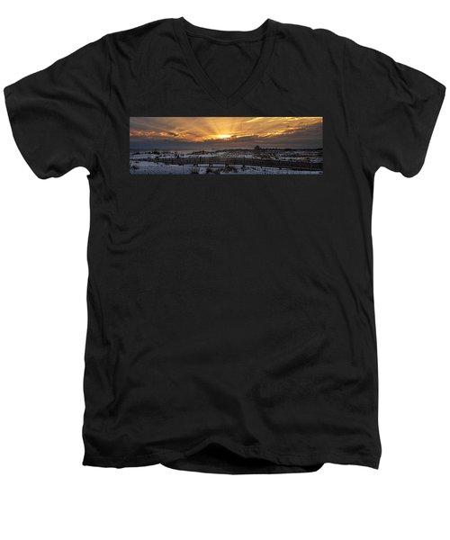 Gulf Shores From Pavilion Men's V-Neck T-Shirt