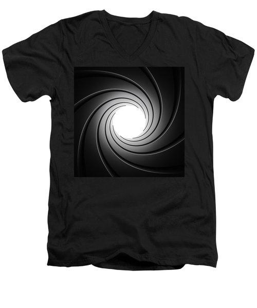 Gun Barrel From Inside Men's V-Neck T-Shirt by Johan Swanepoel