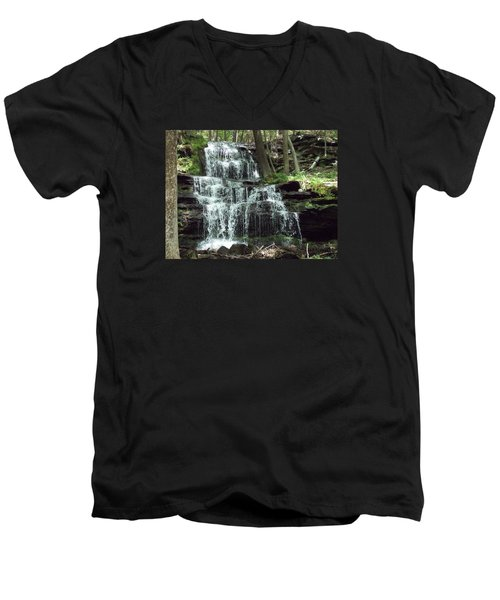 Gun Brook Falls Men's V-Neck T-Shirt