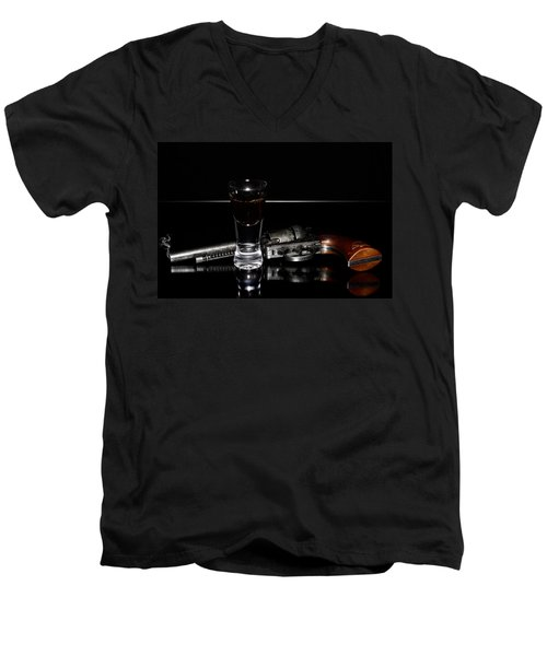 Gun With Smoke Men's V-Neck T-Shirt