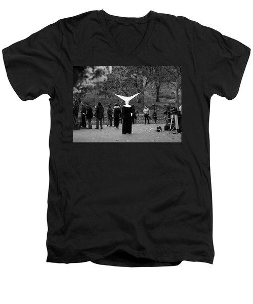 Habit In Central Park Men's V-Neck T-Shirt