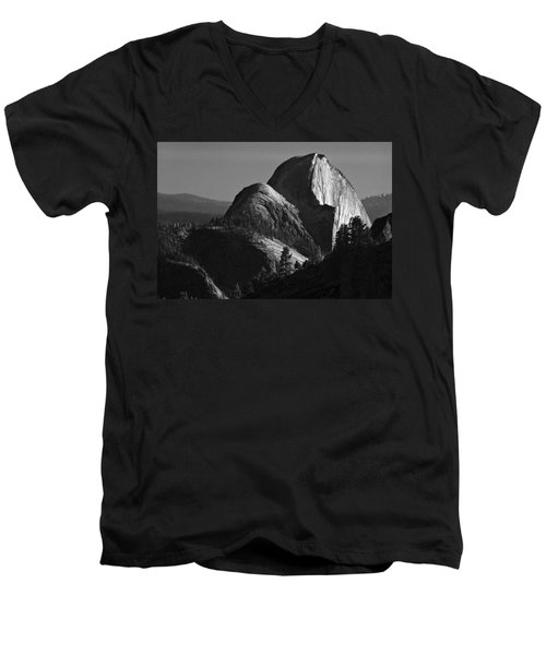 Half Dome At Sunset Men's V-Neck T-Shirt