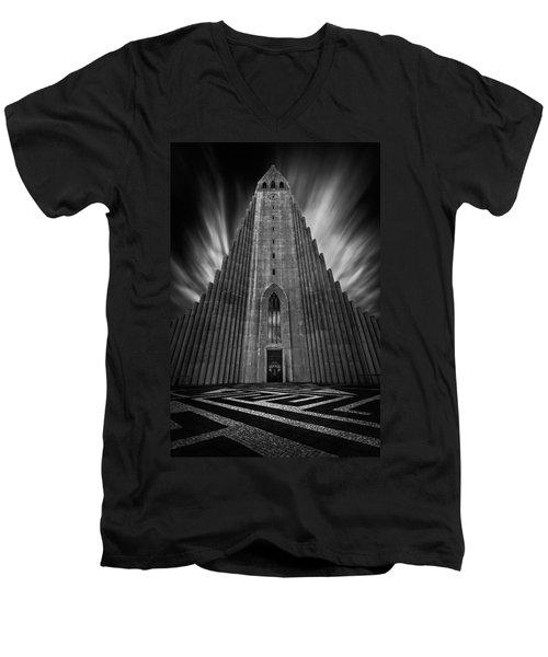 Hallgrimskirkja Men's V-Neck T-Shirt