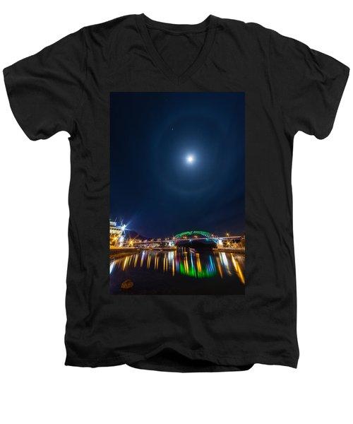 Halo Above The Bridge Men's V-Neck T-Shirt