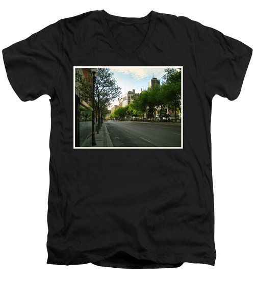 Men's V-Neck T-Shirt featuring the photograph Hamilton At Dawn by Shawn Dall