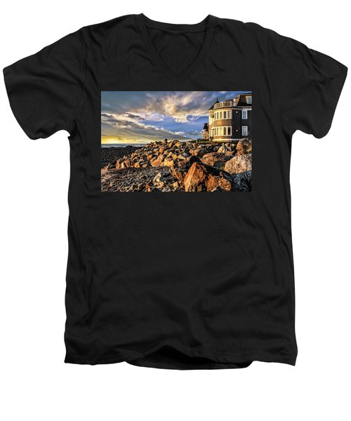Hampton Beach Sunrise Men's V-Neck T-Shirt