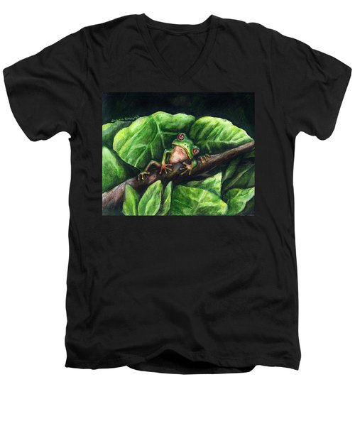 Hanging Out Men's V-Neck T-Shirt by Shana Rowe Jackson