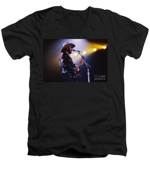 Hank Williams Junior - Fs000246 Men's V-Neck T-Shirt