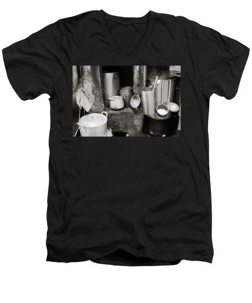 Hanoi Old City Men's V-Neck T-Shirt by Shaun Higson