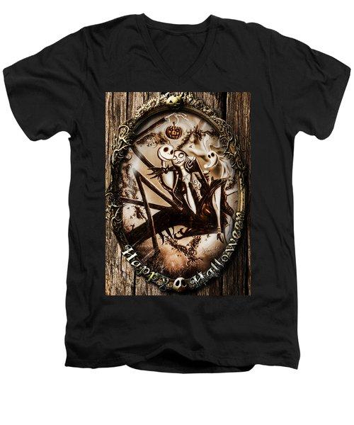 Happy Halloween IIi Sepia Version Men's V-Neck T-Shirt