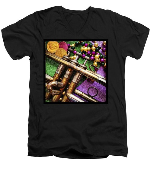 Happy Mardi Gras Men's V-Neck T-Shirt