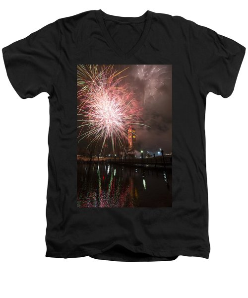 Happy New Year 2014 B Men's V-Neck T-Shirt