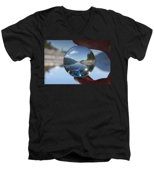 Happy Place Men's V-Neck T-Shirt by Cathie Douglas