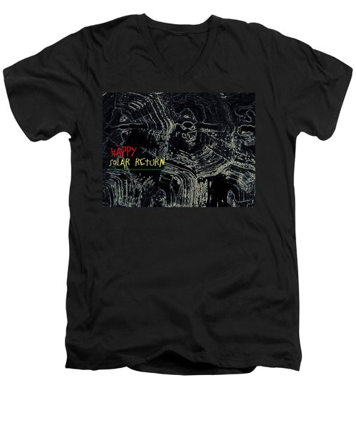 Happy Solar Return 470 Men's V-Neck T-Shirt by Cleaster Cotton