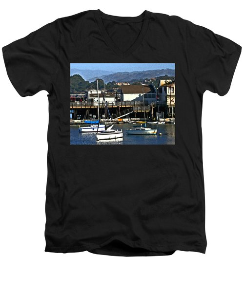Harbor Sailboats Men's V-Neck T-Shirt
