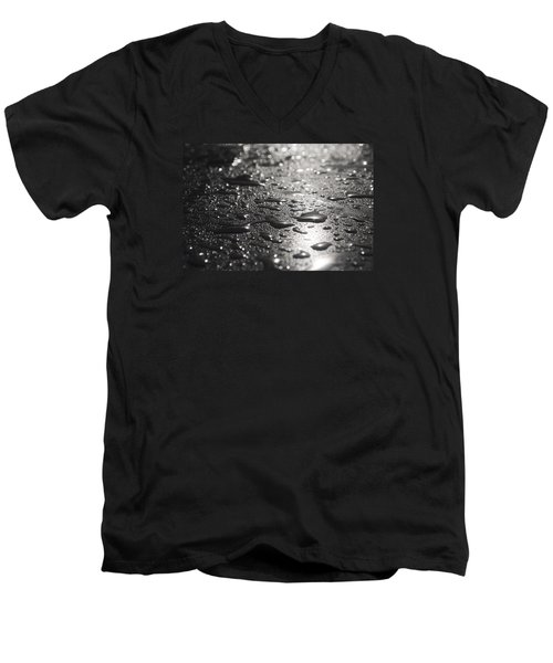 Men's V-Neck T-Shirt featuring the photograph Hard And Soft by Miguel Winterpacht