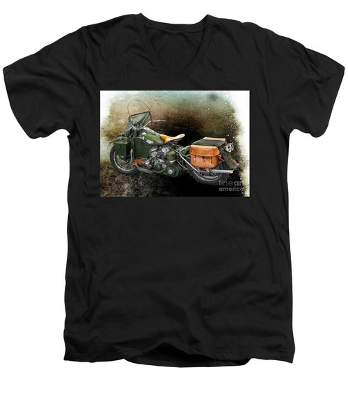 Harley Davidson 1942 Experimental Army Men's V-Neck T-Shirt