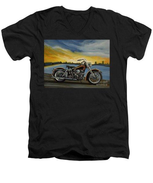 Harley Davidson Duo Glide Men's V-Neck T-Shirt