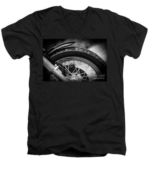 Harley Davidson Tire Men's V-Neck T-Shirt by Carsten Reisinger