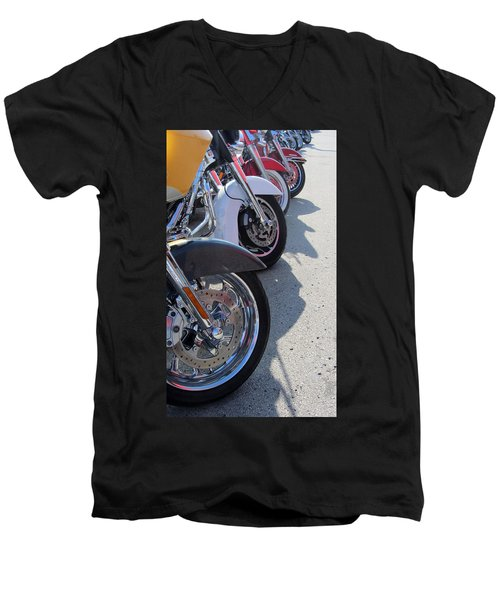 Harley Line Up 1 Men's V-Neck T-Shirt