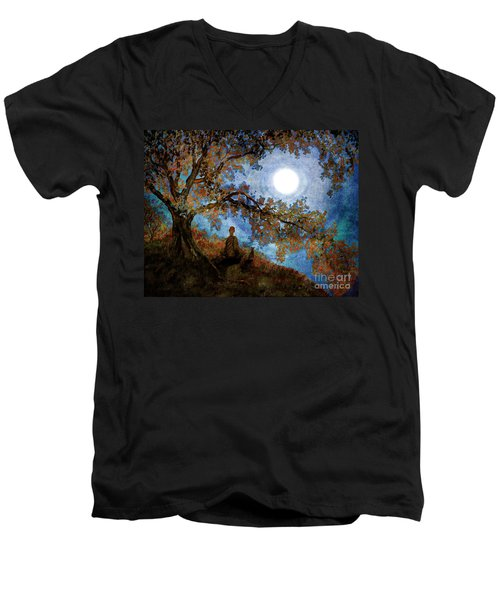 Harvest Moon Meditation Men's V-Neck T-Shirt