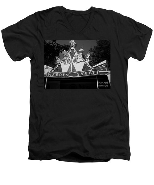 Men's V-Neck T-Shirt featuring the photograph Haunted House by Michael Krek