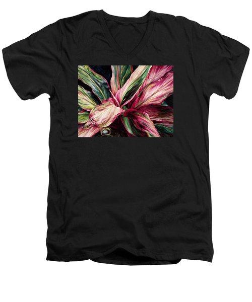 Hawaiian Prayer Men's V-Neck T-Shirt by Lynda Hoffman-Snodgrass