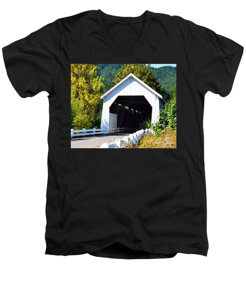Hayden Covered Bridge Men's V-Neck T-Shirt