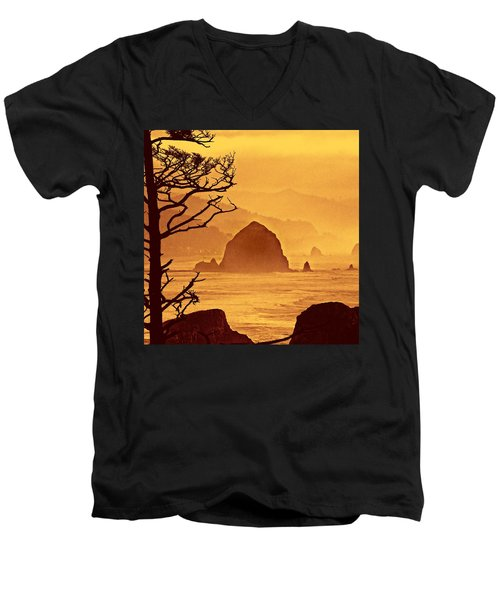 Haystack Burnt Sienna Men's V-Neck T-Shirt