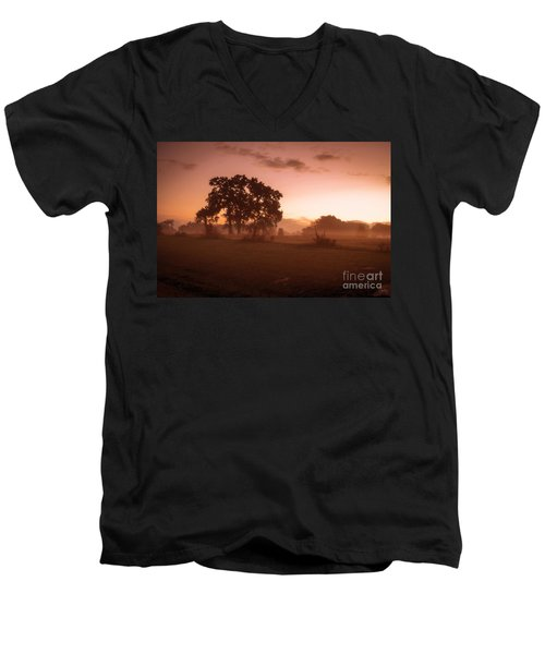 Hazy Morn Men's V-Neck T-Shirt