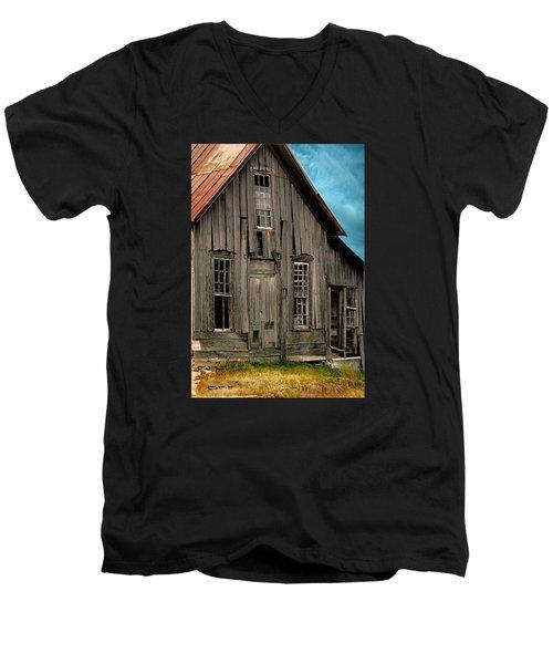 Shack Of Elora Tn  Men's V-Neck T-Shirt by Lesa Fine