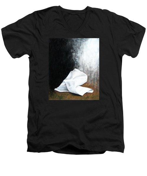 He Is Risen Men's V-Neck T-Shirt by Kume Bryant