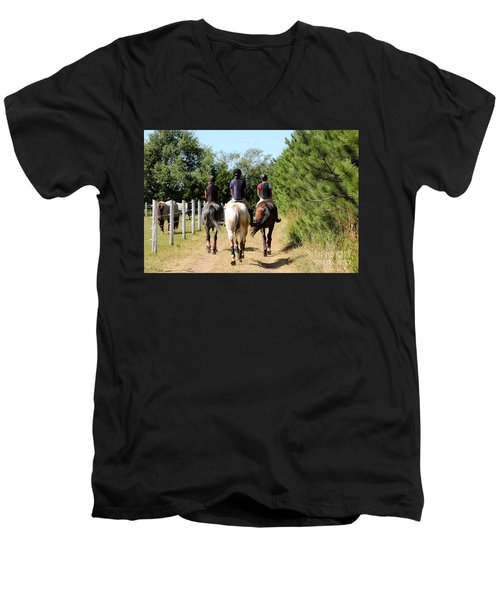 Heading To The Cross Country Course Men's V-Neck T-Shirt