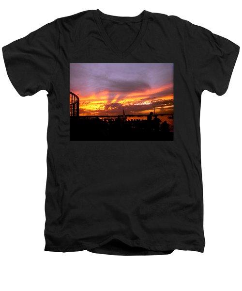 Headlights Of Sunset Men's V-Neck T-Shirt