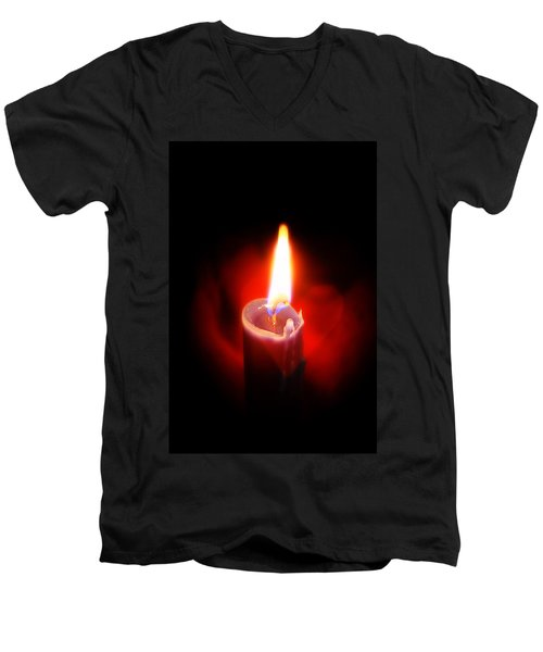 Heart Aflame Men's V-Neck T-Shirt