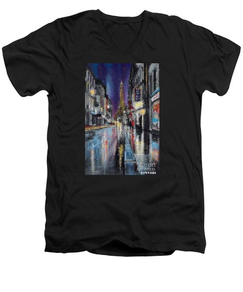 Heart Of Paris Men's V-Neck T-Shirt