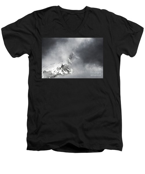 Men's V-Neck T-Shirt featuring the photograph Heaven For A Moment by Nick  Boren