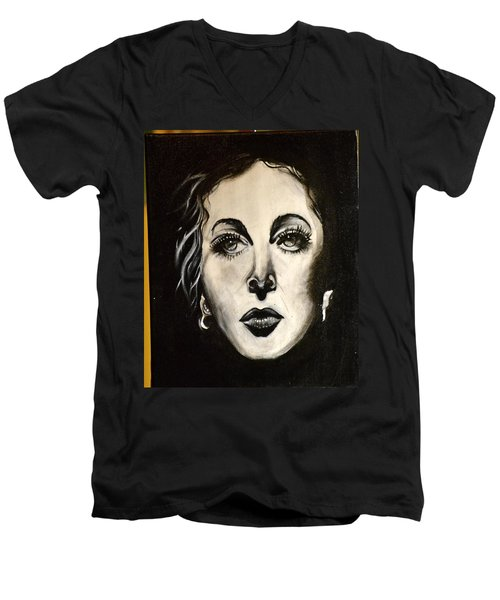 Men's V-Neck T-Shirt featuring the painting Hedi by Sandro Ramani