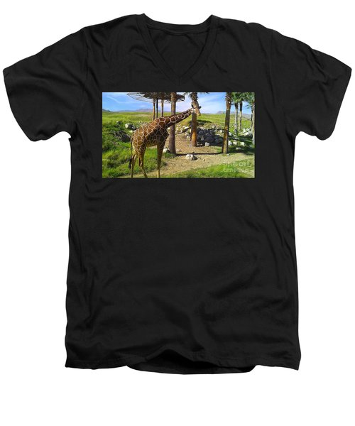 Hello There Men's V-Neck T-Shirt by Chris Tarpening
