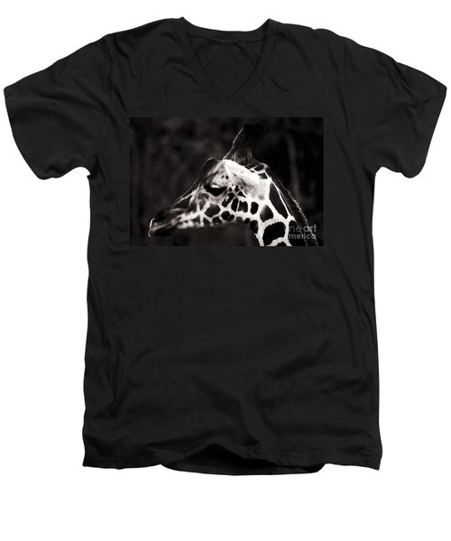 Men's V-Neck T-Shirt featuring the photograph Hello Up There by Doc Braham