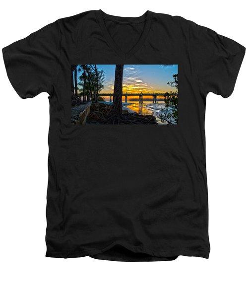 Here Comes Sunshine Men's V-Neck T-Shirt