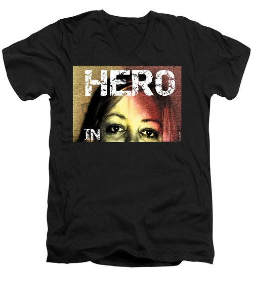 Men's V-Neck T-Shirt featuring the photograph Hero In Part Two by Sir Josef - Social Critic - ART