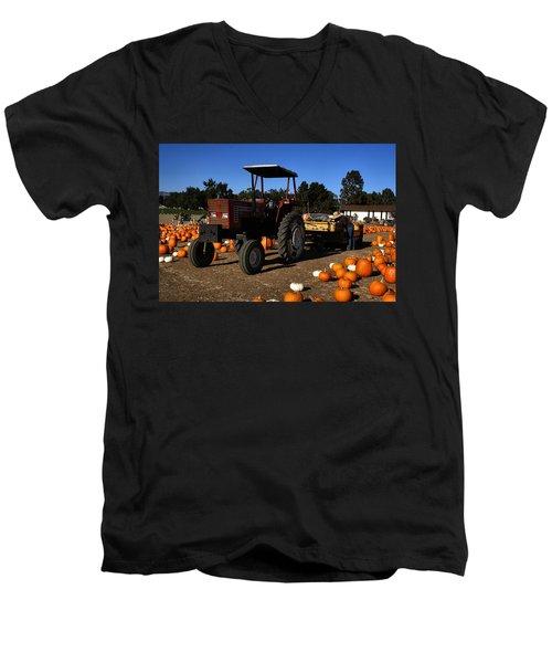 Men's V-Neck T-Shirt featuring the photograph Heston 80-66 by Michael Gordon