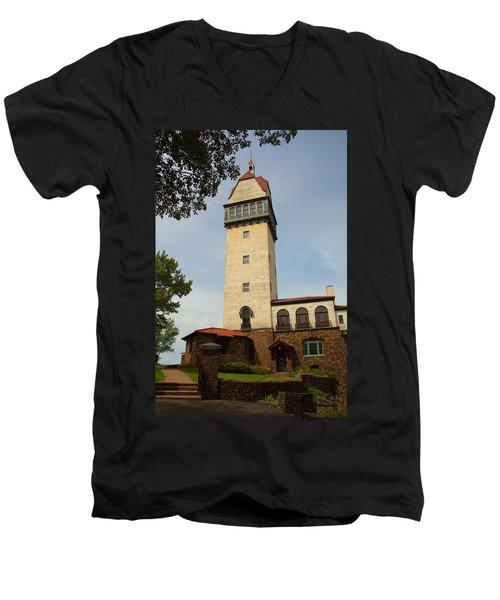 Heublein Tower Men's V-Neck T-Shirt by Karol Livote