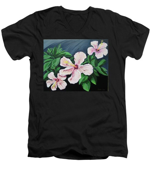 Hibiscus No. 1 Men's V-Neck T-Shirt