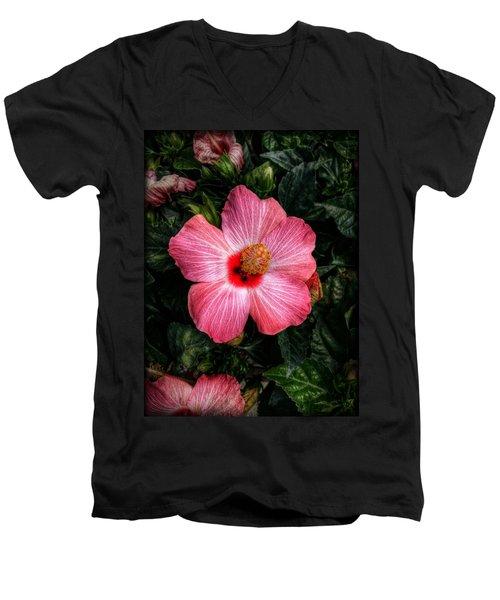 Hibiscus Sunset Men's V-Neck T-Shirt