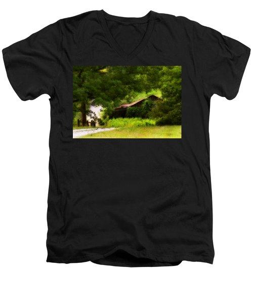 Hidden Down The Road Men's V-Neck T-Shirt