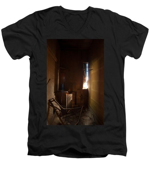 Men's V-Neck T-Shirt featuring the photograph Hidden In Shadow by Fran Riley